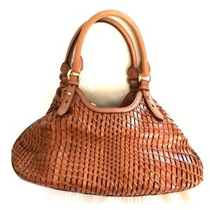 Woven leather Cole Haan Purse